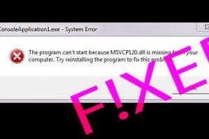 fix msvcp120.dll